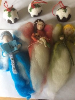 Needle Felting at Dorothy Clive Garden