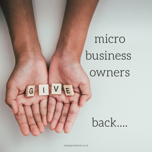 Micro business owners give back